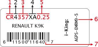 Sticker code info