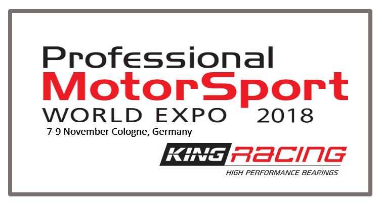 Come and visit us at booth 3006; PMW 2018 - King Bearings - Engine Bearing specialist