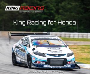 King racing brochure for Honda